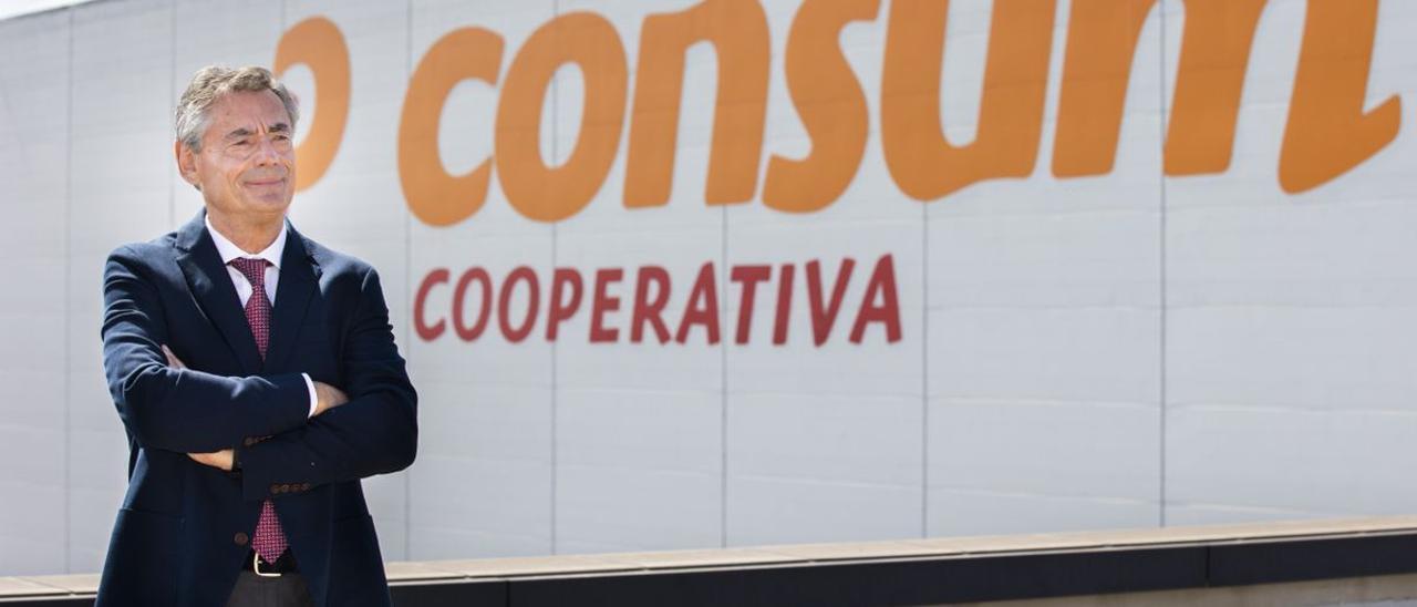 Juan Luis Durich, en la sede central de Consum.