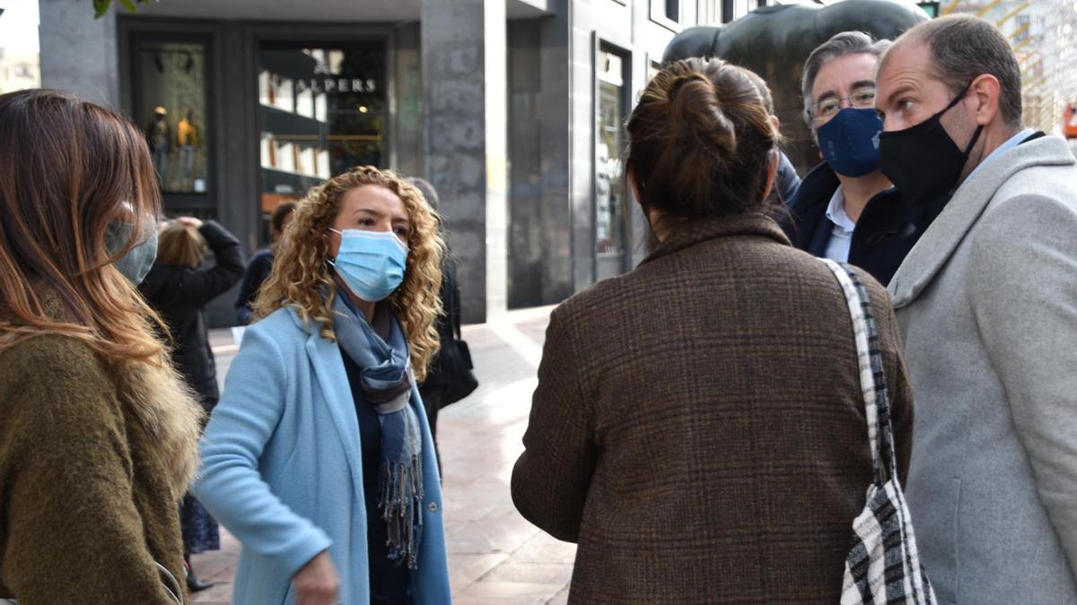 Teresa Mallada, esta mañana en Oviedo.