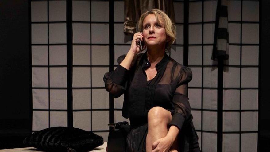 Carmen Acosta interpreta en el Galdós la ópera 'La voz humana'