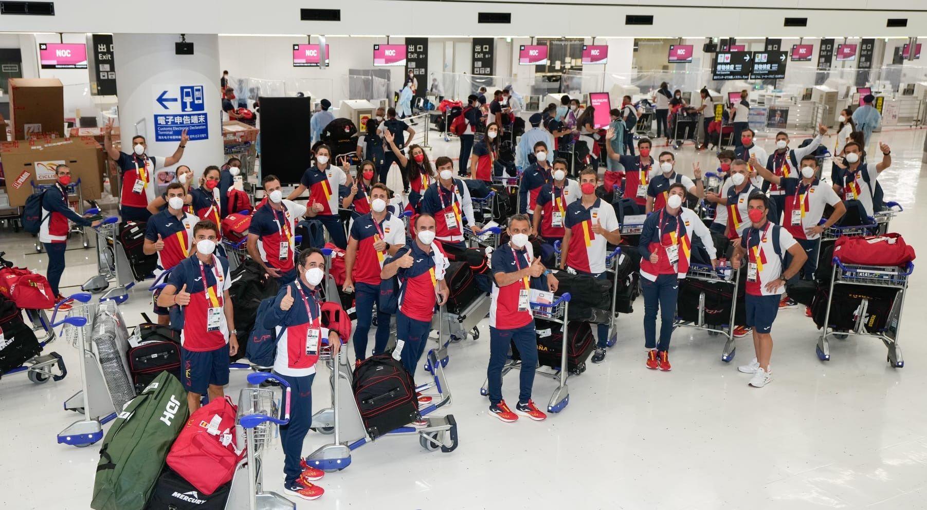 La delegación española ya está en Tokio