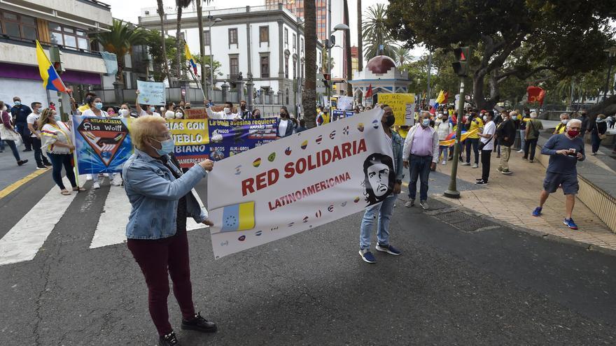 Manifestación por el respeto a los Derechos Humanos en Colombia