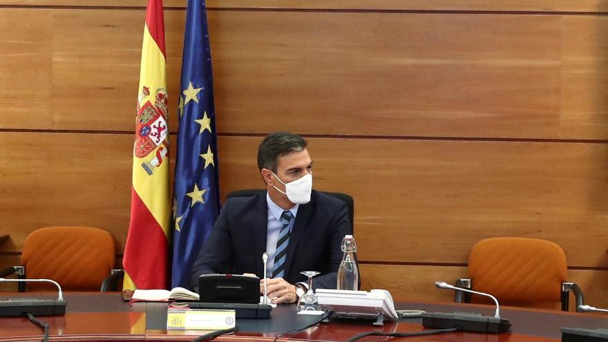 Comparecencia de Pedro Sánchez tras la reunión Interministerial sobre Afganistán en Moncloa