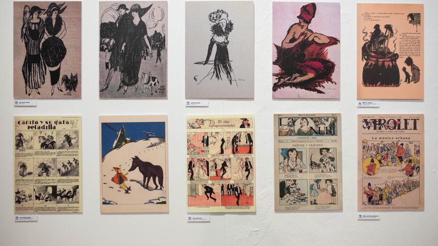 La Recova reúne 80 ilustraciones con la evolución histórica de la figura femenina