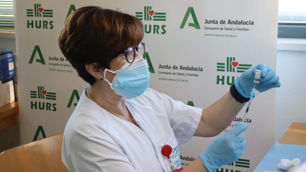 Vacunación del covid en el hospital Reina Sofía