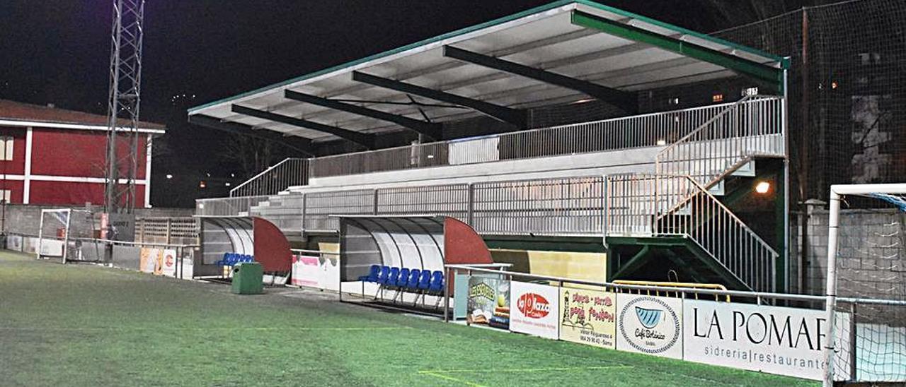 El campo de fútbol de Los Llerones.