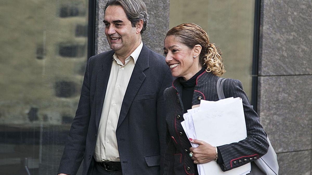 La abogada y dirigente del PSOE canario Sandra Rodríguez, en el Palacio de Justicia de La Laguna.