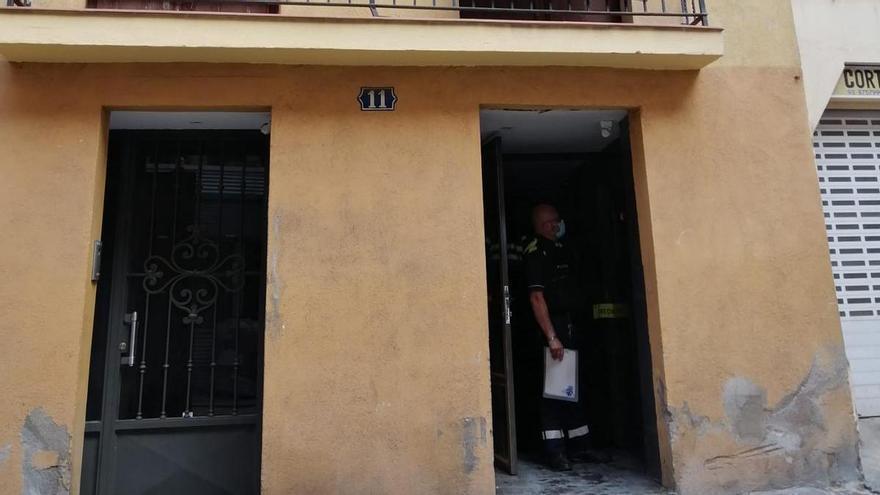 Explosió en un bloc de pisos del carrer Hospital de Manresa