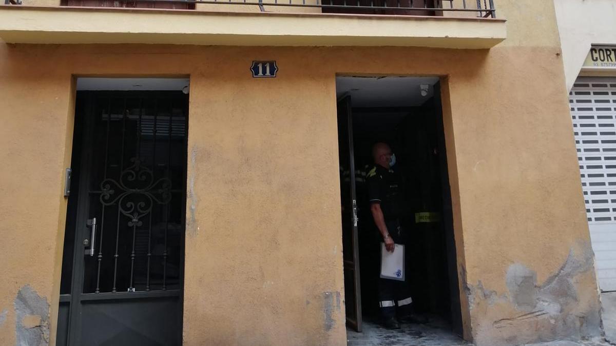Explosió al carrer Hospital de Manresa