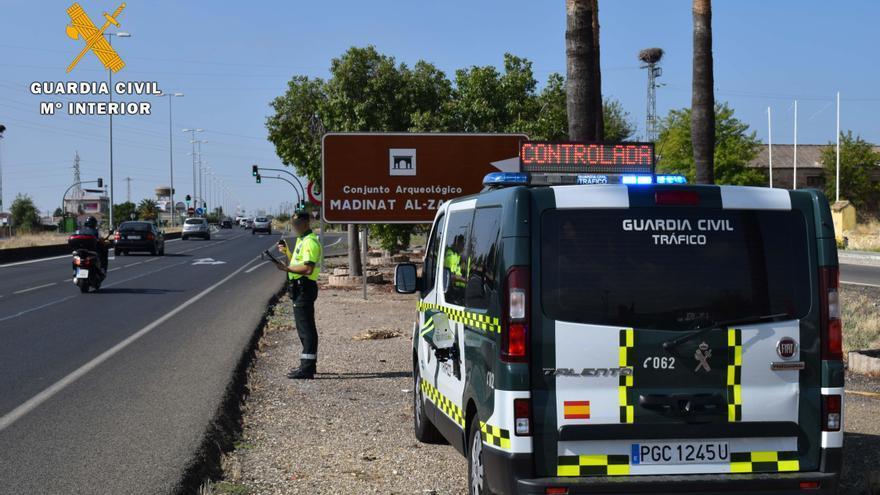 La Guardia Civil busca a un conductor 'cazado' en la A-45 en Lucena circulando a 237 kilómetros por hora
