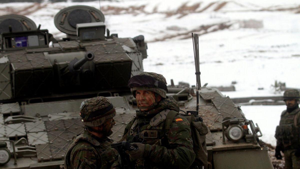 Militares españoles, confinados en Letonia por un brote de covid