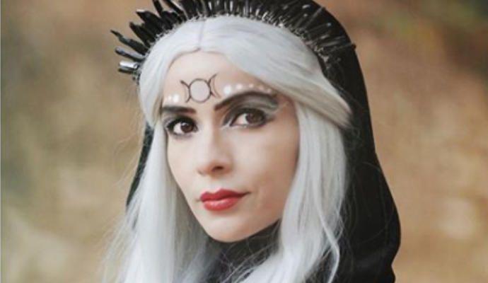 El 'misterioso' disfraz de la grancanaria Raquel del Rosario para Halloween