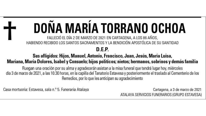 Dª María Torrano Ochoa