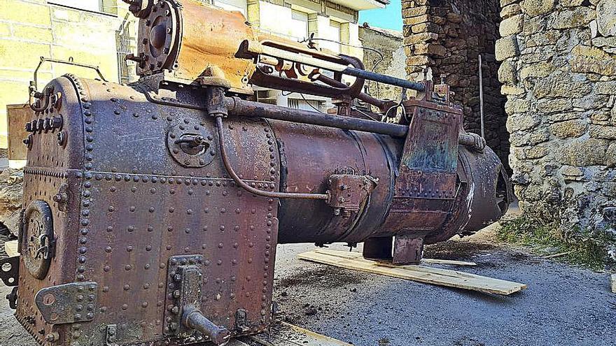 A Veiga rescata una locomotora para su Museo del Wolframio