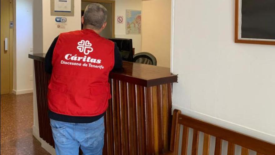 Cáritas tiene 100 plazas en alojamientos para personas sin hogar en Tenerife