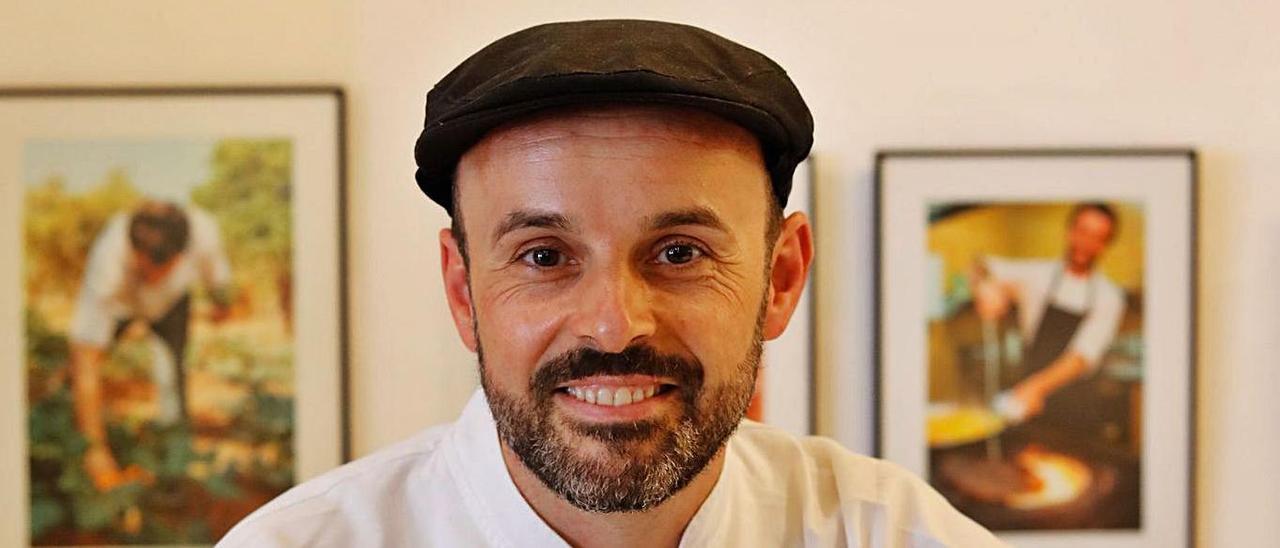 El chef José Miguel Bonet, en el restaurante Es Ventall.