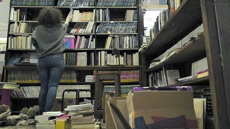 Una librería de Zamora.