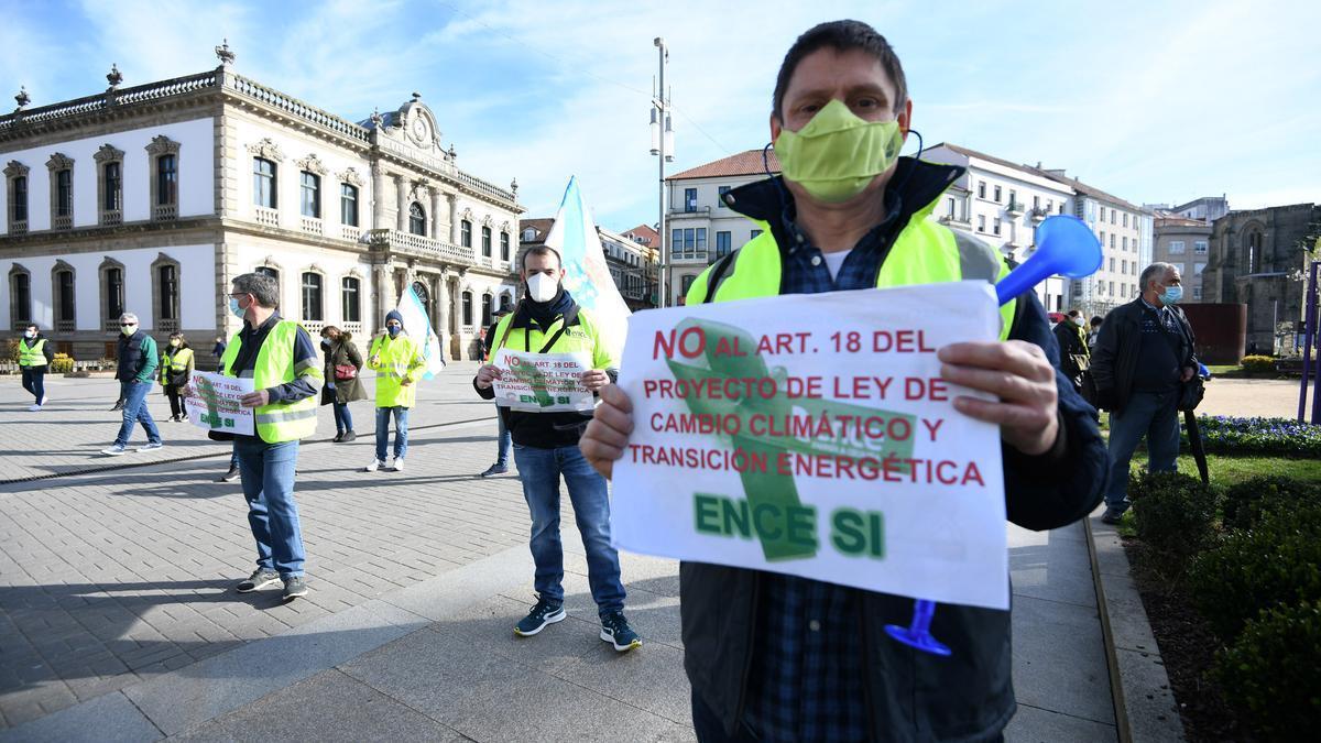 Una protesta anterior ante la Subdelegación del Gobierno en Pontevedra