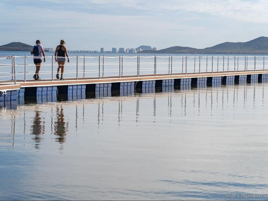 Cinco balnearios y cinco pasarelas para el Mar Menor