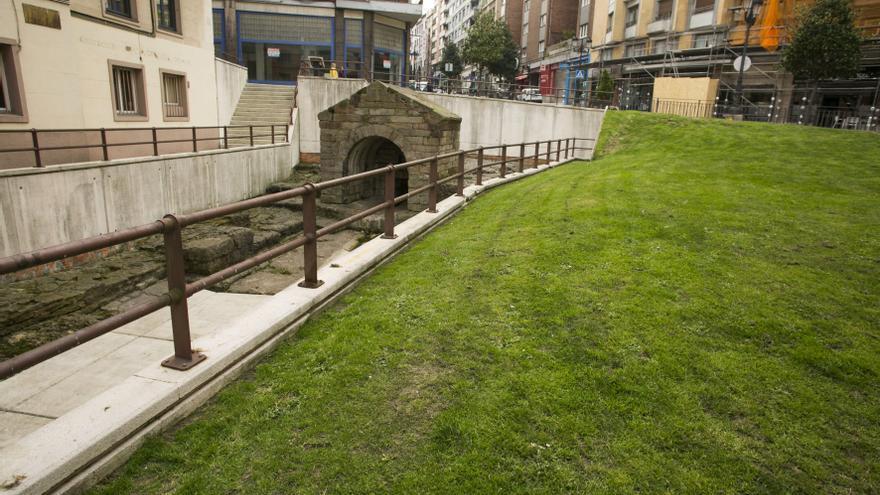 Oviedo quiere reurbanizar el entorno de la Foncalada con los fondos del Prerrománico