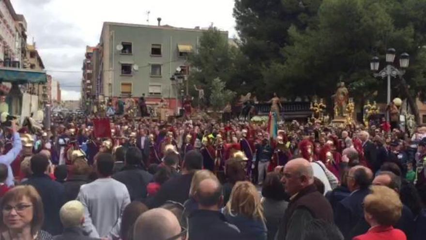 Tradicional Danza del Caracol en el Encuentro entre Jesús y la Virgen en Jumilla