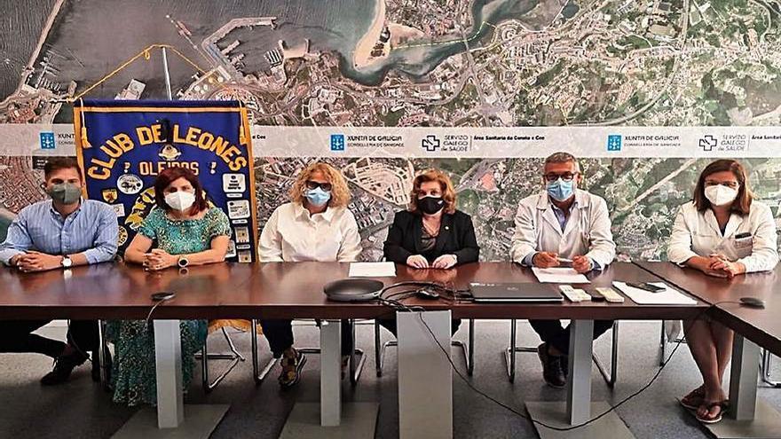 El club de Leones de Oleiros y el Sergas renuevan su acuerdo para apoyar a familias desplazadas con niños