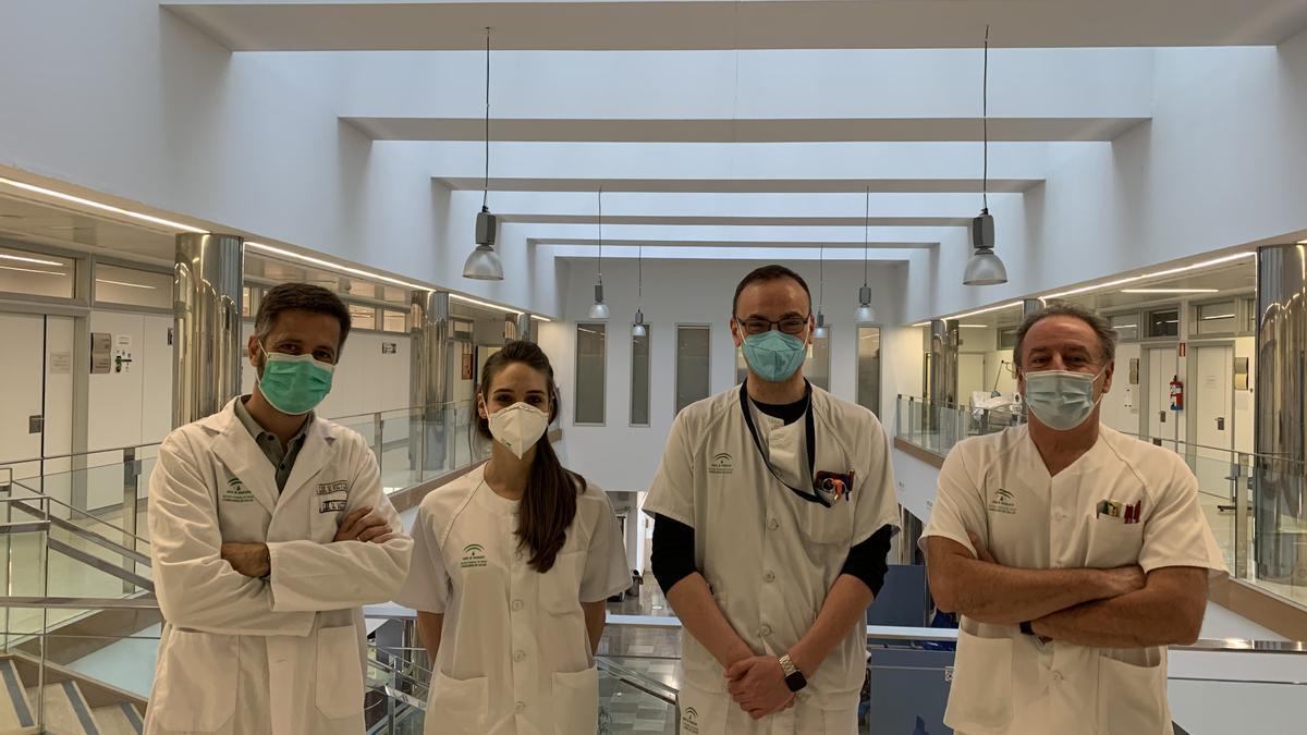 Profesionales del área de diabetes del Hospital Virgen de la Victoria