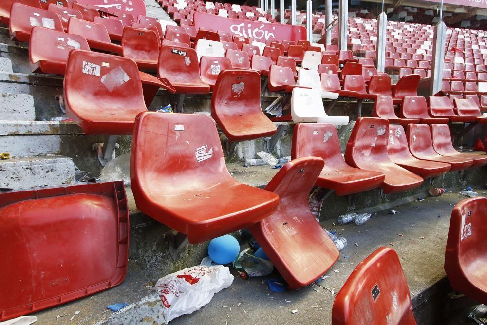 El Sporting denuncia destrozos