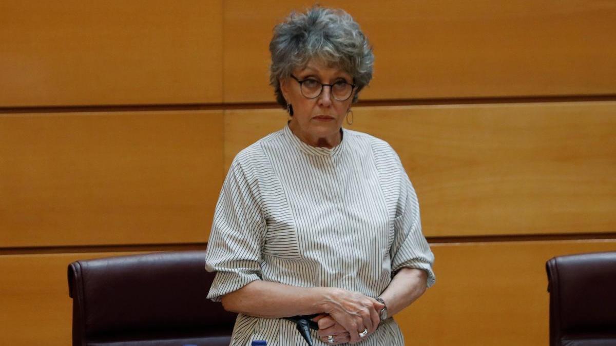 Rosa María Mateo, en su comparecencia en el Senado.