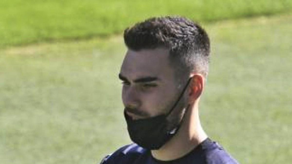Dani Martín, en un entrenamiento con el club verdiblanco. | REAL BETIS