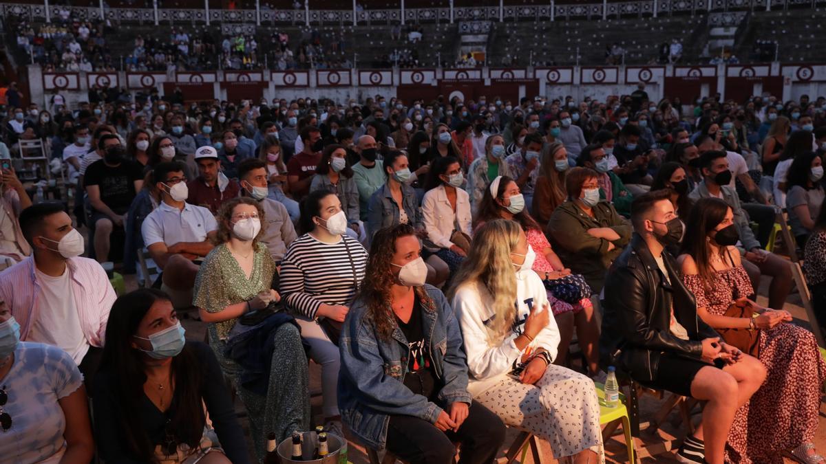 Imagen de archivo de un concierto en la plaza de toros.