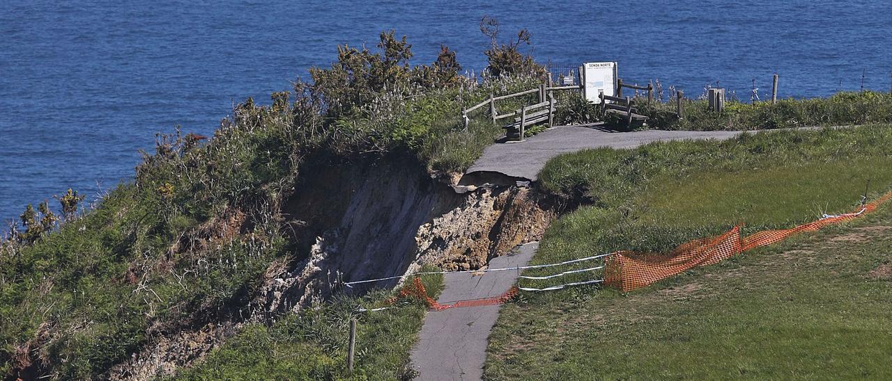 Argayo en la Senda Norte, la ruta costera en Castrillón, cerca de Santa María del Mar. | Ricardo Solís