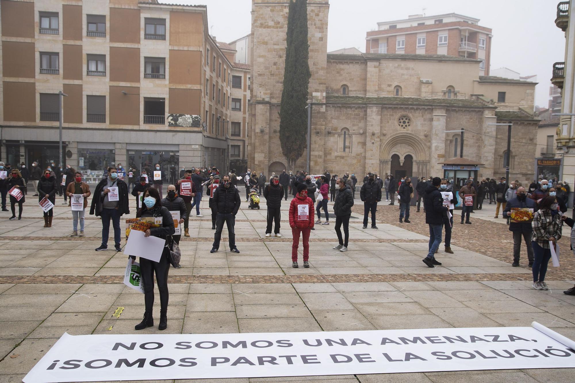 GALERÍA | La concentración de la hostelería en Zamora, en imágenes.