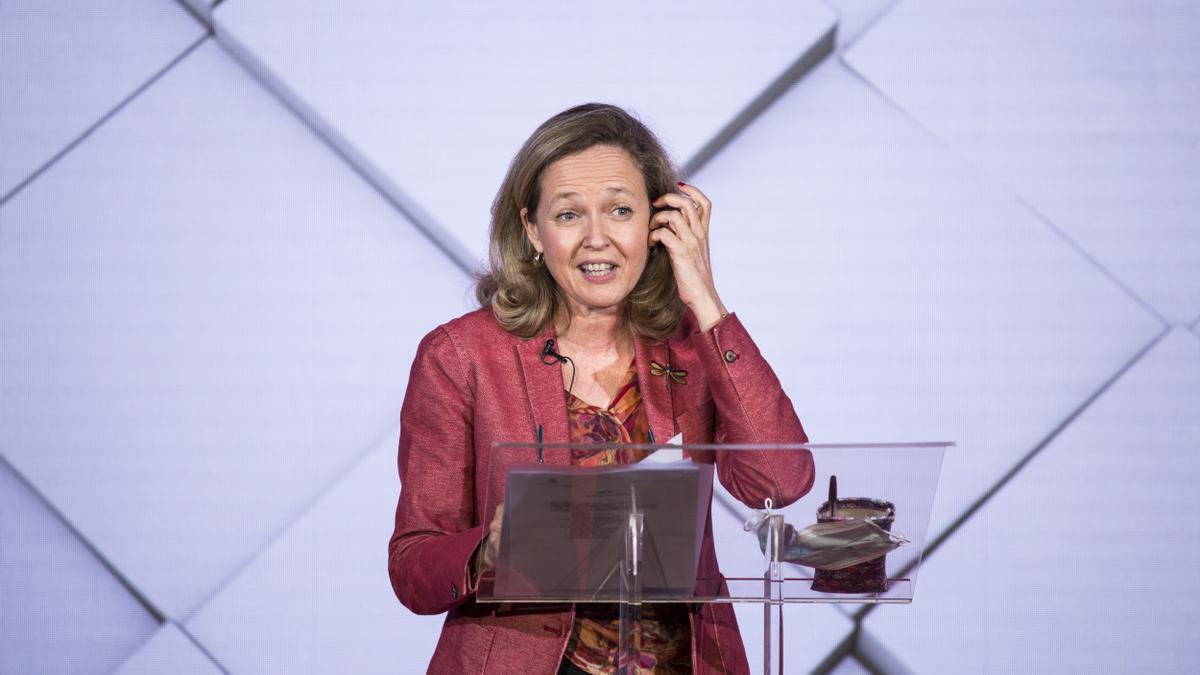 La vicepresidenta segunda del Gobierno, Nadia Calviño