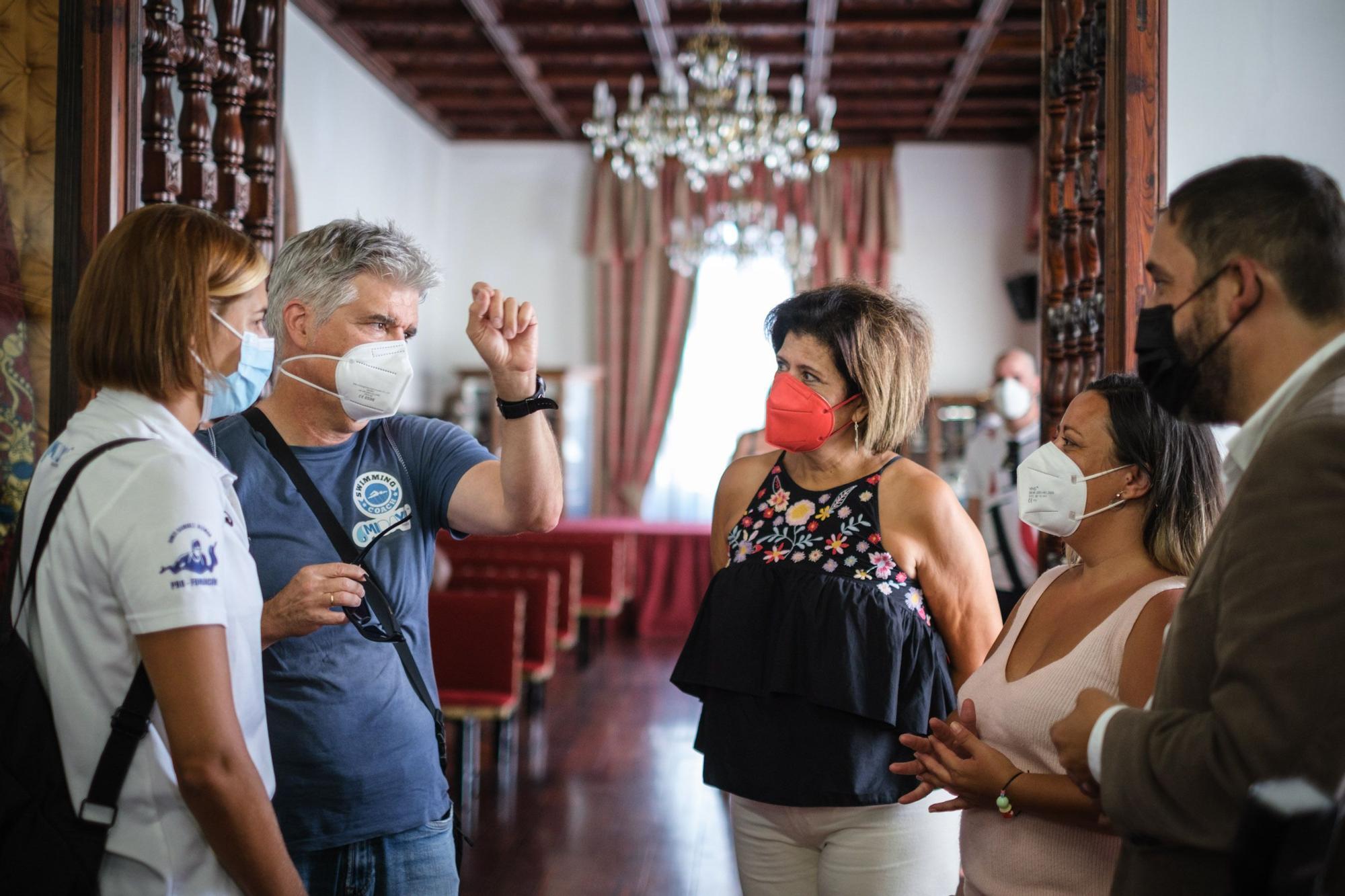 Recepción a Michelle Alonso en La Laguna
