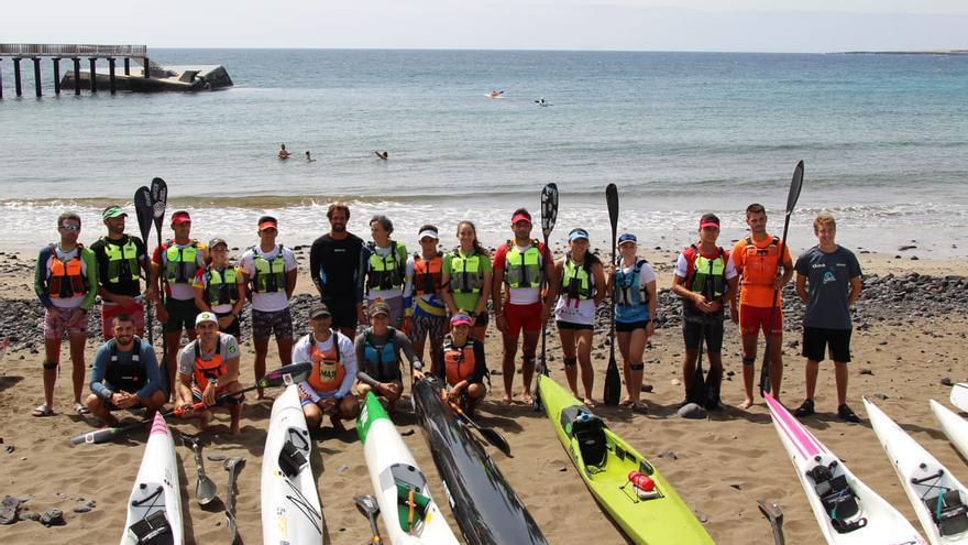 Walter Bouzán (El Sella), cuarto senior y quinto en la general en el Mundial de kayak de mar, en Lanzarote