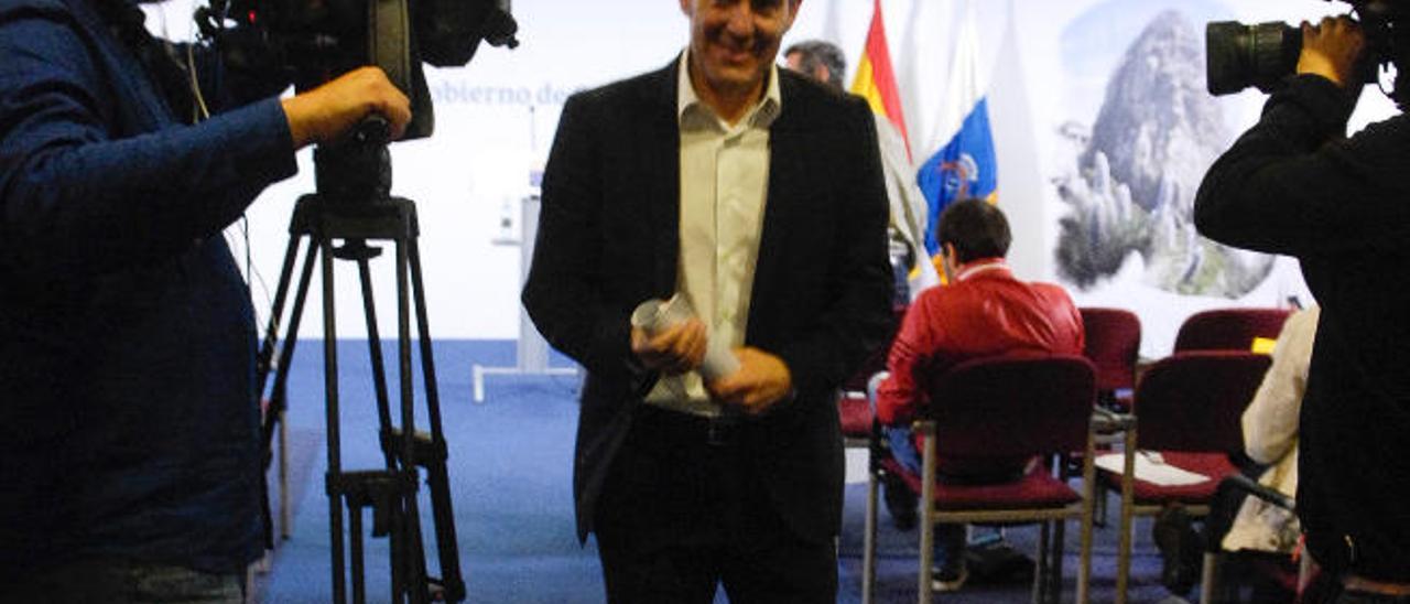 El presidente Fernando Clavijo el pasado miércoles.