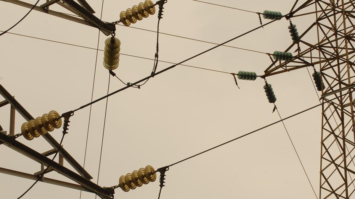 Torres de tendido eléctrico.
