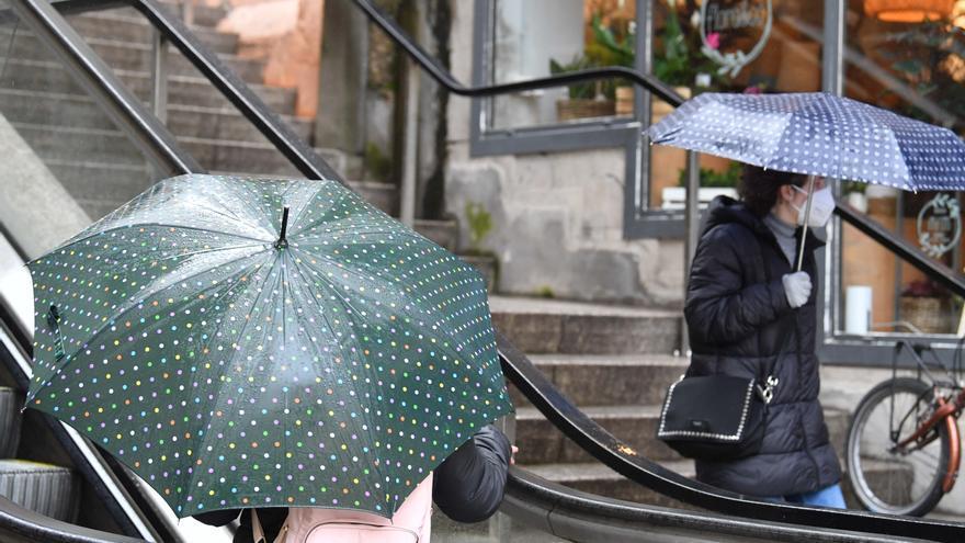 Jornada lluviosa en A Coruña