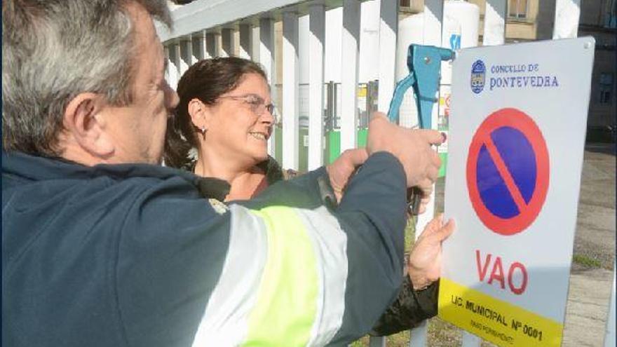 El Concello identifica casi 3.000 vados en Pontevedra
