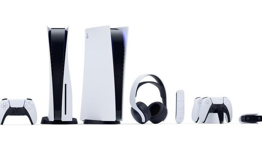 Així és la PS5: vertical, blanca i negra i amb comandament DualSense