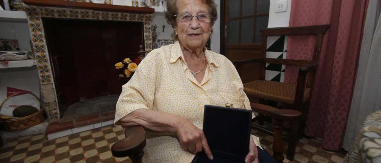 Didín Puig, després de rebre el guardó al Mèrit Cultural de la Generalitat, l'any 2017.   VICENT M. PASTOR