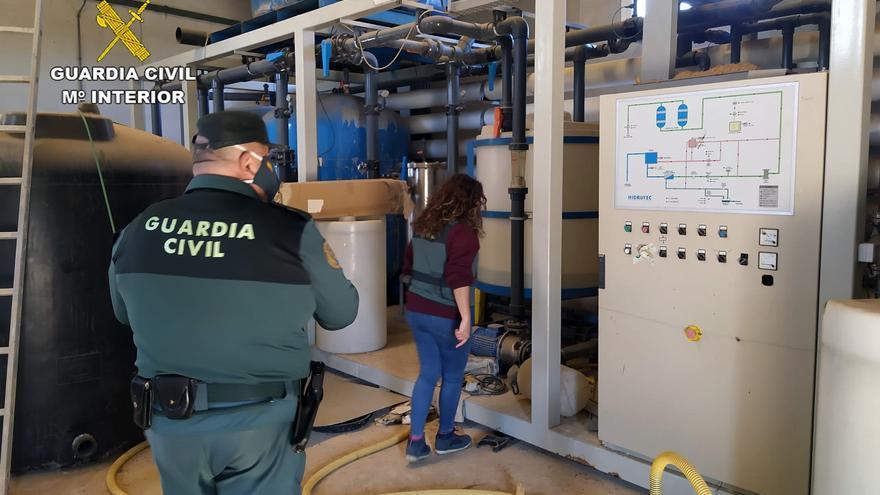 Destapada una trama delictiva dedicada al uso de desaladoras en el Campo de Cartagena en Murcia