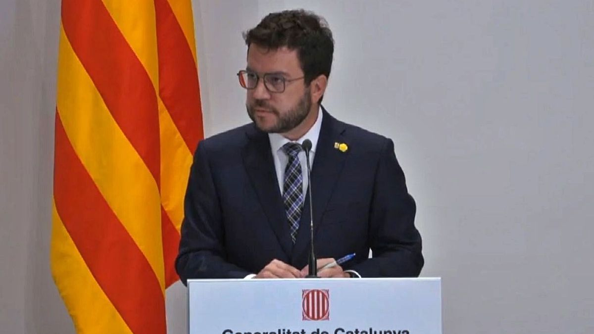 El president de la Generalitat, Pere Aragonès  | EP