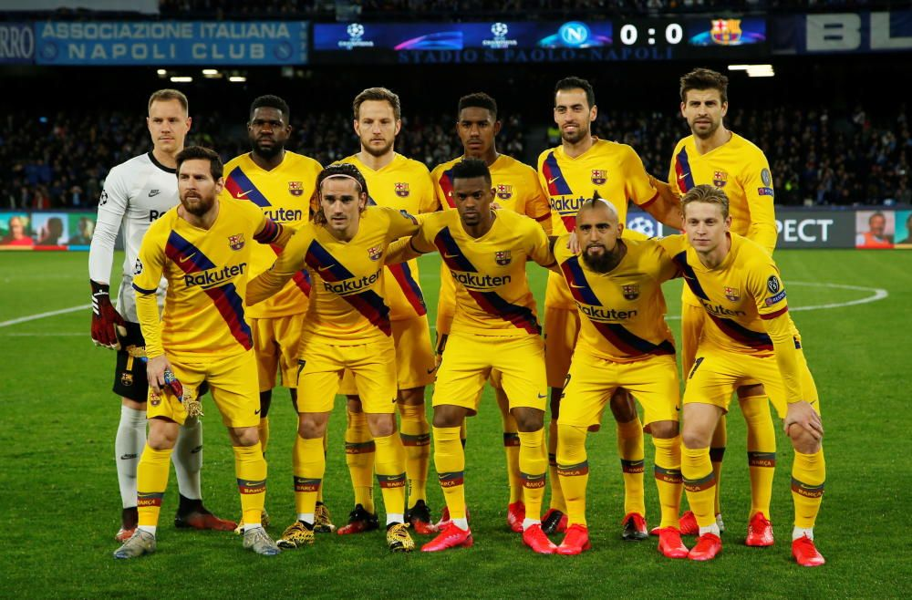 Champions League: Nápoles - Barcelona