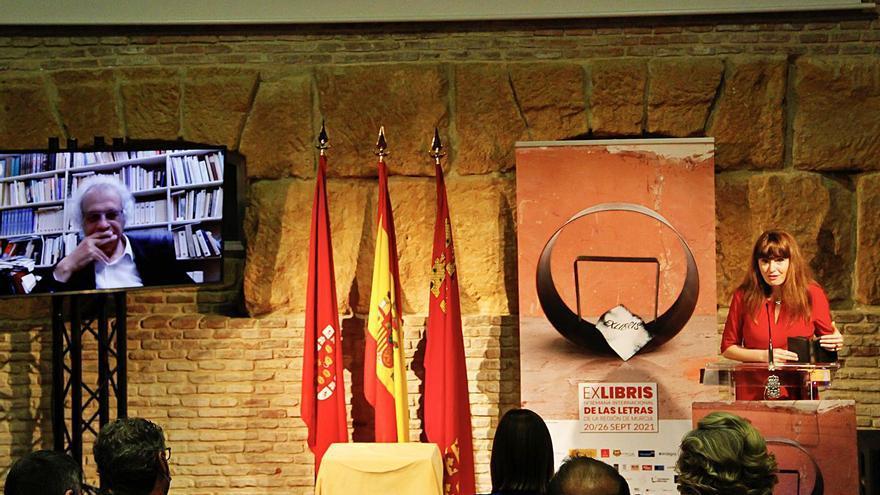 ExLibris dibuja un  lazo imborrable entre Murcia y Amin Maalouf