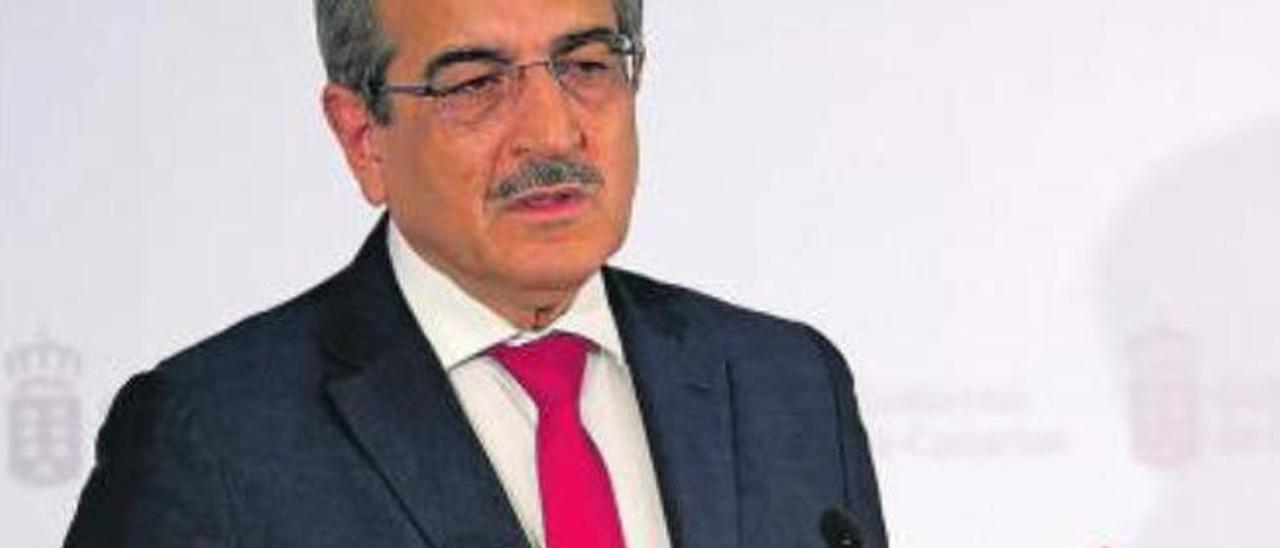 Román Rodríguez, durante una rueda de prensa.