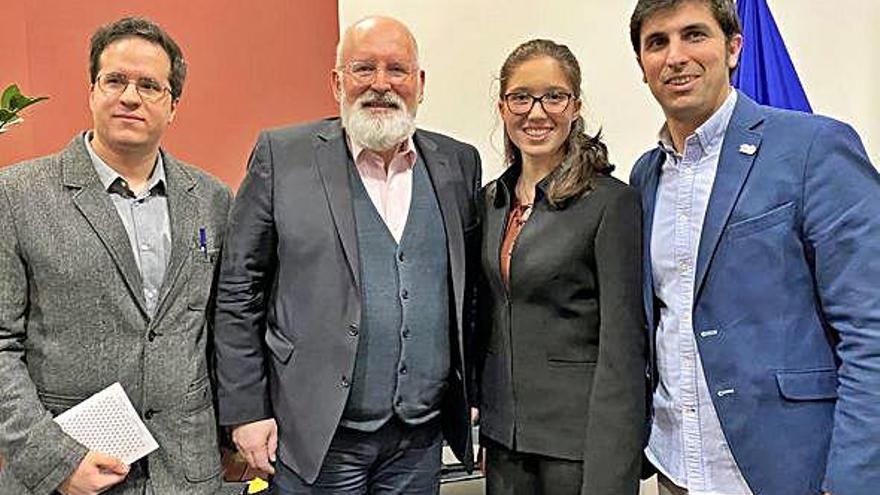 Un oleirense, entre los tres jóvenes que difunden el pacto por el clima en España