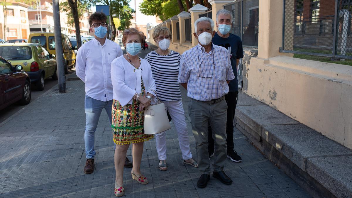 Representantes de Faveza y AVZ en la zona afectada por la ORA.