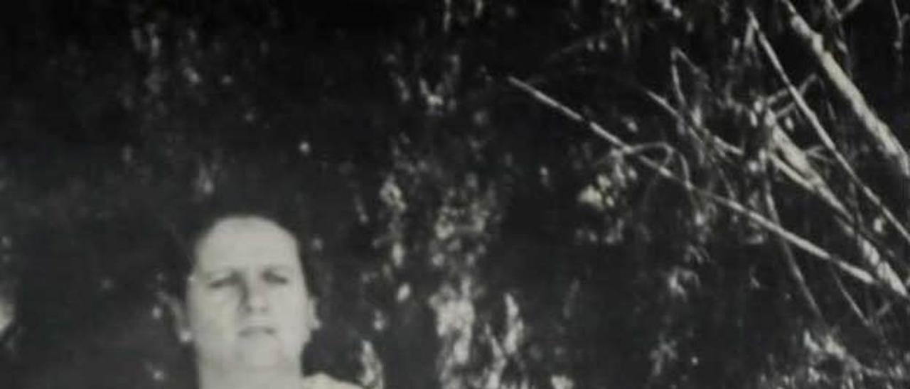 Dos imágenes de Honorina Montes: en la actualidad y antes de su desaparición.