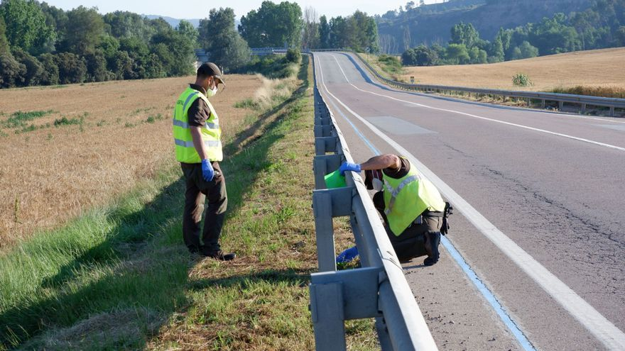 Un estudi fixa tres carreteres de l'Alt Empordà com a problemàtiques pel llançament de burilles
